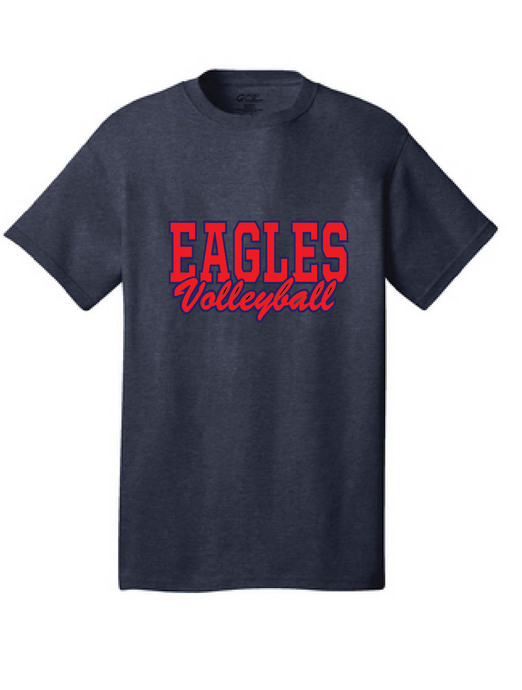 Eagles Cotton T-Shirt / Navy / Independence Volleyball - Fidgety