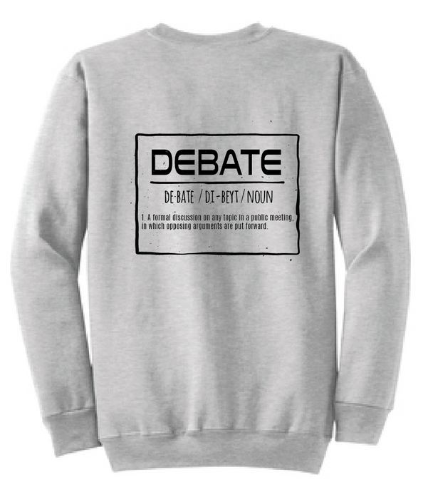 Debate Fleece Crewneck Sweatshirt / Ash Gray / Debate - Fidgety