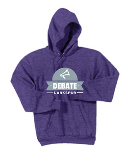 Debate Fleece Hooded Sweatshirt / Heather Purple / Larkspur Debate - Fidgety