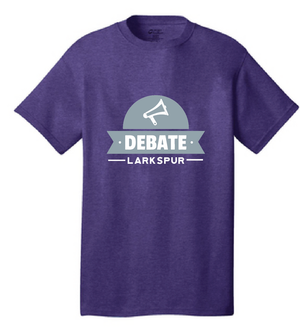 Core Cotton T-Shirt / Heather Purple / Larkspur Debate - Fidgety