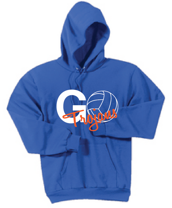 Trojans Fleece Hooded Sweatshirt / Royal / Plaza Volleyball - Fidgety