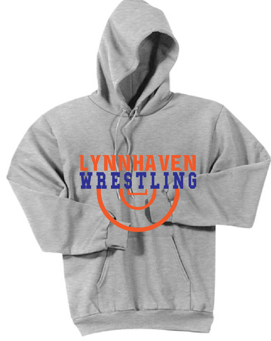 LMS Fleece Hooded Sweatshirt / Ash Gray / Lynnhaven Wrestling - Fidgety