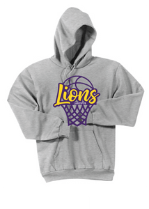 Fleece Hooded Sweatshirt / Gray / Larkspur Girls Basketball - Fidgety