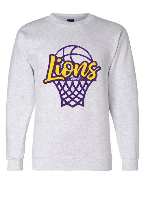 Crew neck sweatshirt / Gray  / Larkspur Basketball