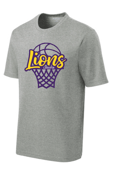 Performance t-shirt / Heather Gray  / Larkspur Girls Basketball