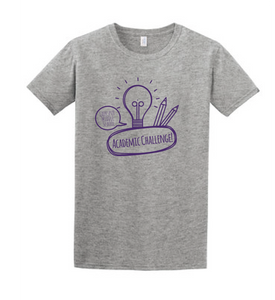 Softstyle Short Sleeve T-Shirt (Youth & Adult) / Heather Grey / Larkspur Academic Challenge