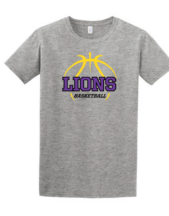 Softstyle Short Sleeve T-Shirt (Youth & Adult) / Heather Grey / Larkspur Basketball