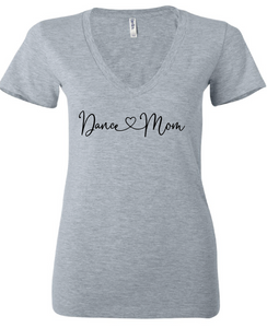 Dance Mom V-Neck / Heather Gray / Dance - Fidgety