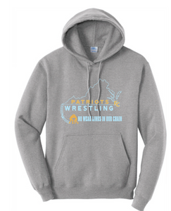 Fleece Hooded Sweatshirt (Youth & Adult) / Ash / FC Wrestling