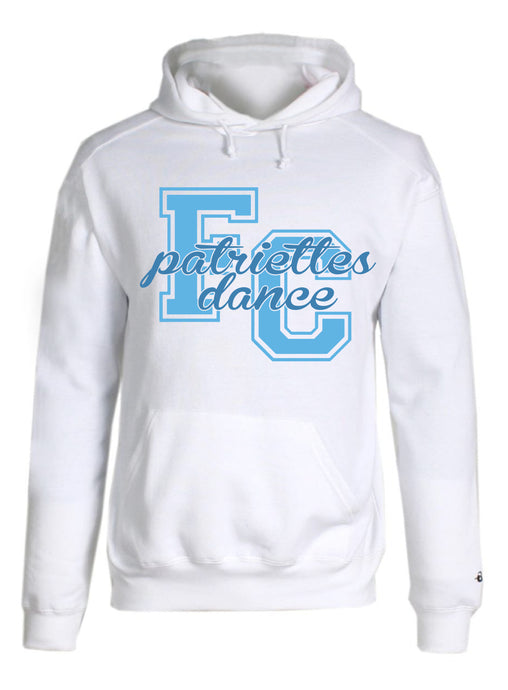 Fleece Hooded Sweatshirt / White / FC Dance - Fidgety