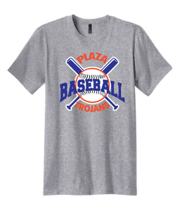 Plaza Baseball Short Sleeve T-Shirt - Gray - Fidgety