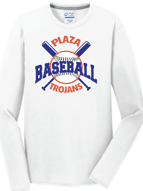 Plaza Baseball Long Sleeve T-Shirt - Fidgety