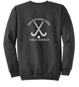 Fleece Crewneck Sweatshirt / Dark Heather Gray / Great Neck Field Hockey - Fidgety