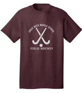 Cotton T-Shirt / Maroon / Great Neck Field Hockey - Fidgety