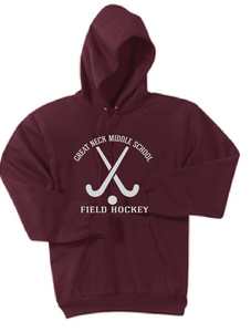 Fleece Pullover Hooded Sweatshirt / Maroon / Great Neck Field Hockey - Fidgety
