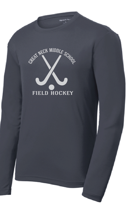 PosiCharge RacerMesh Long Sleeve / Graphite Gray / Great Neck Field Hockey - Fidgety