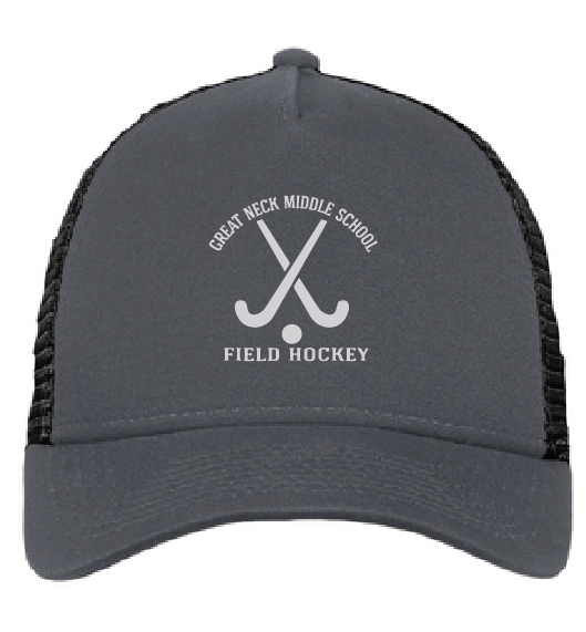 Trucker Hat  / Gray / Great Neck Field Hockey - Fidgety