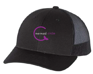 Low Profile Trucker Hat / Black / Mermaids