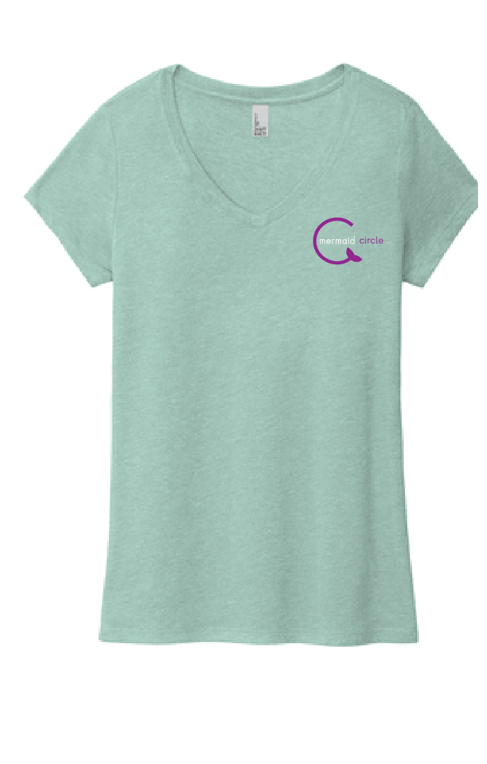 Women's Soft Triblend V-Neck Tee / Dusty Sage / Mermaids
