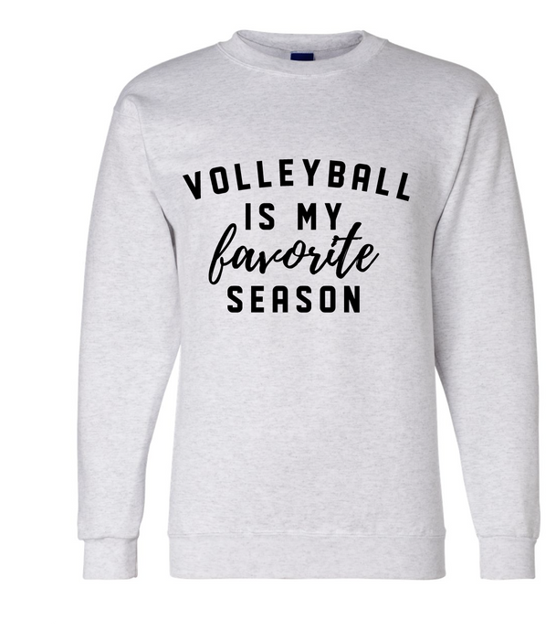 Favorite Volleyball Crewneck / Ash / Fidgety