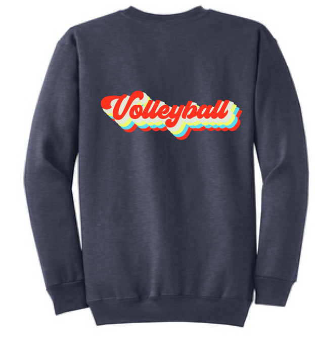 Vintage Volleyball Crewneck (Youth & Adult) / Navy / Volleyball