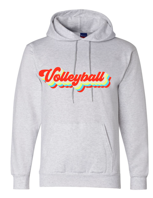 Vintage Volleyball Fleece Hoody / Ash / Fidgety
