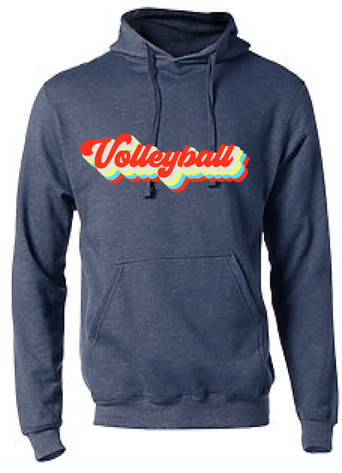 Vintage Volleyball Fleece Hoody / Navy / Fidgety