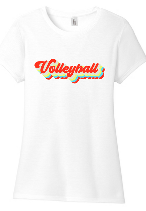 Vintage Volleyball Triblend Tee / White / Fidgety