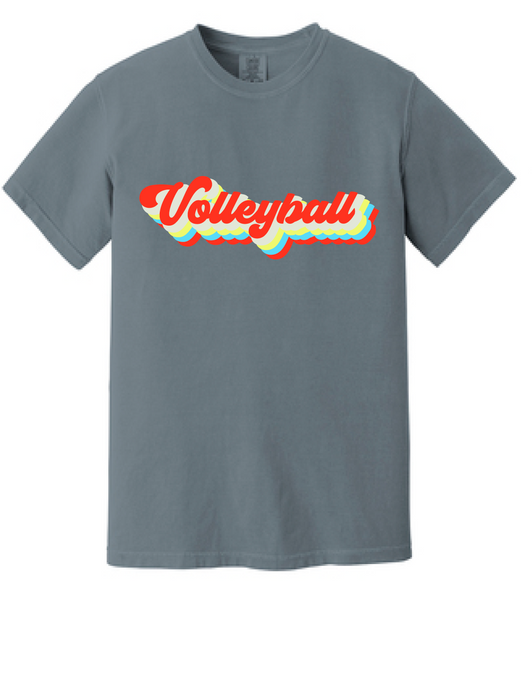 Vintage Volleyball Heavyweight Ring Spun Short Sleeve Tee / Granite / Fidgety