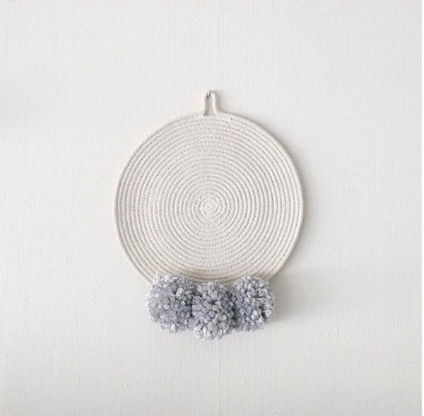 the pompom wall hanging