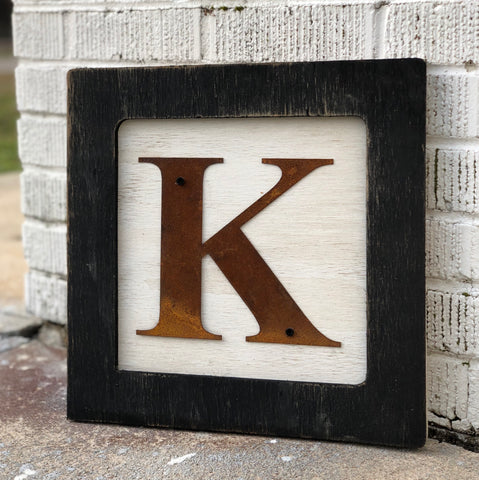Square Initial Sign