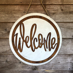Metal Welcome Door Hanger