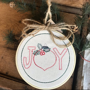 Joy Embroidered Ornament