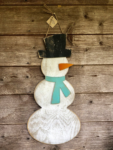 Snowman with Scarf Door Hanger