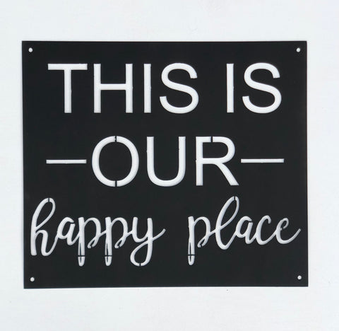 """Happy Place"" Metal Sign"