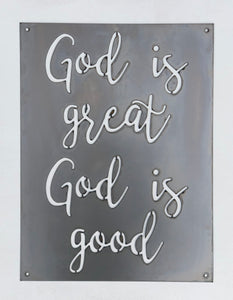 """God is Great"" Metal Sign"