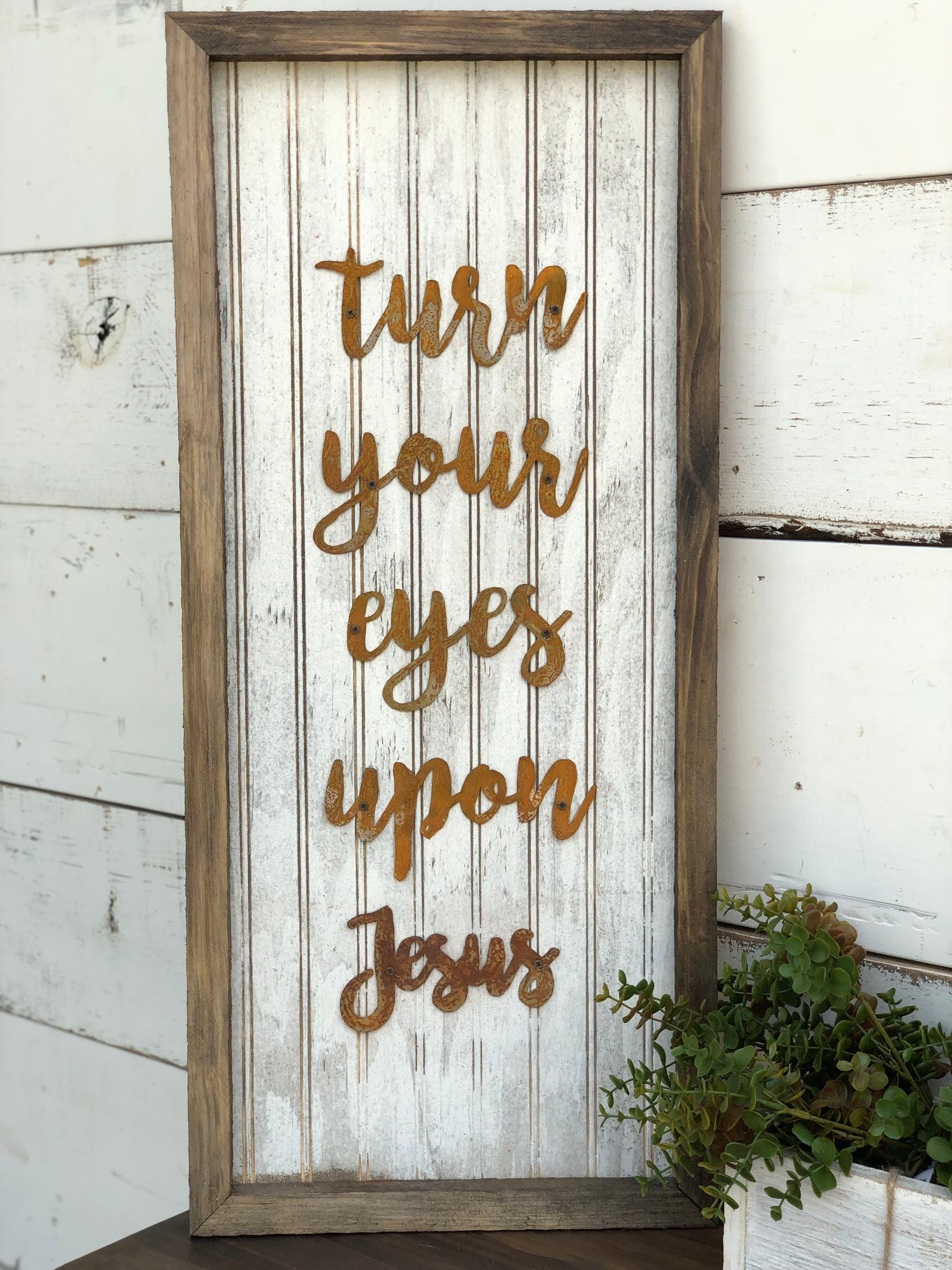 Turn Your Eyes Upon Jesus Sign