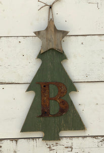Christmas Tree Door Hanger with Star