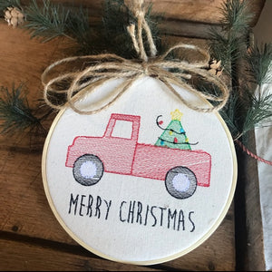Truck Embroidered Ornament