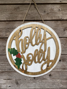 Holly Jolly Door Hanger