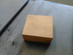 Block of wood for a solid wood ring