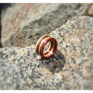 Spectraply Natural Brown Wine Wood Ring - Bentwood or Solid Wood - Art and Soule