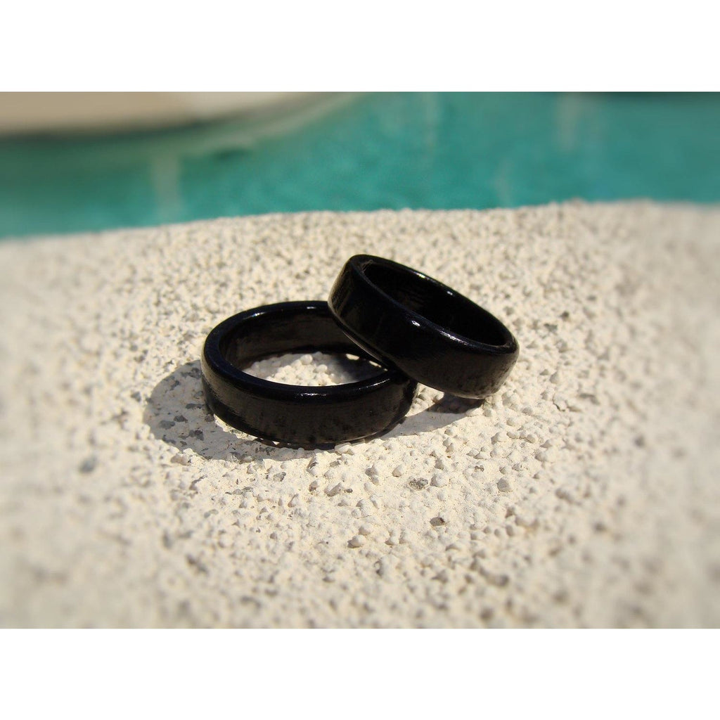 Ebony Solid Wood Ring Set - Art and Soule