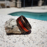 Jack Daniels Tennessee Whiskey Barrel Charred Bentwood Ring With Treated Copper Inlay - Art and Soule