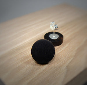 Ebony Wood Stud Earrings - Multiple Sizes - Art and Soule