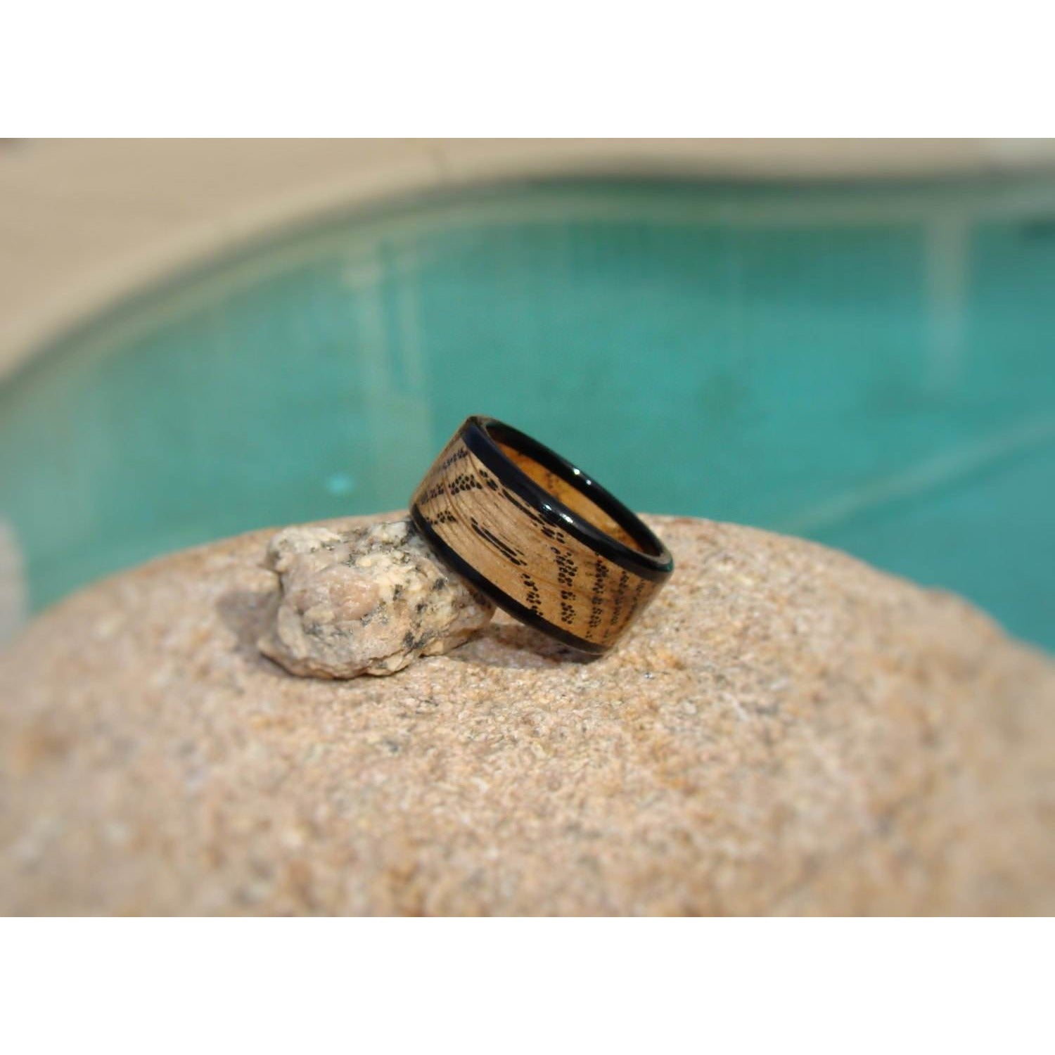 Tennessee Whiskey Barrel Ring With Ebony - Jack Daniels And Ebony Wood Ring - Art and Soule