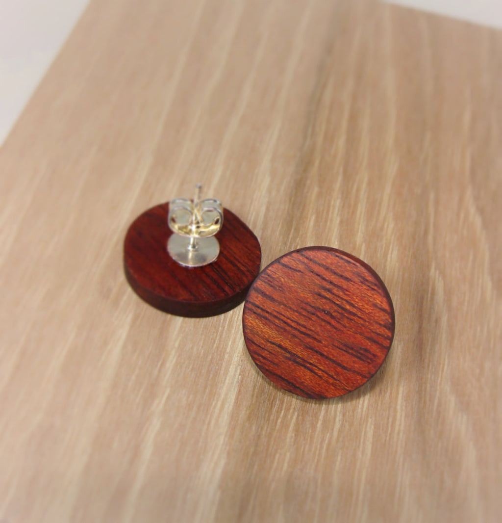 Bloodwood Earrings - Stud or Dangle - Multiple Sizes - Art and Soule
