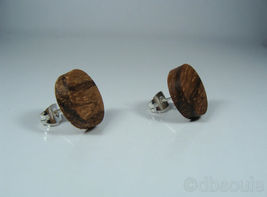 Zebrawood Earrings - Stud or Dangle - Multiple Sizes - Art and Soule