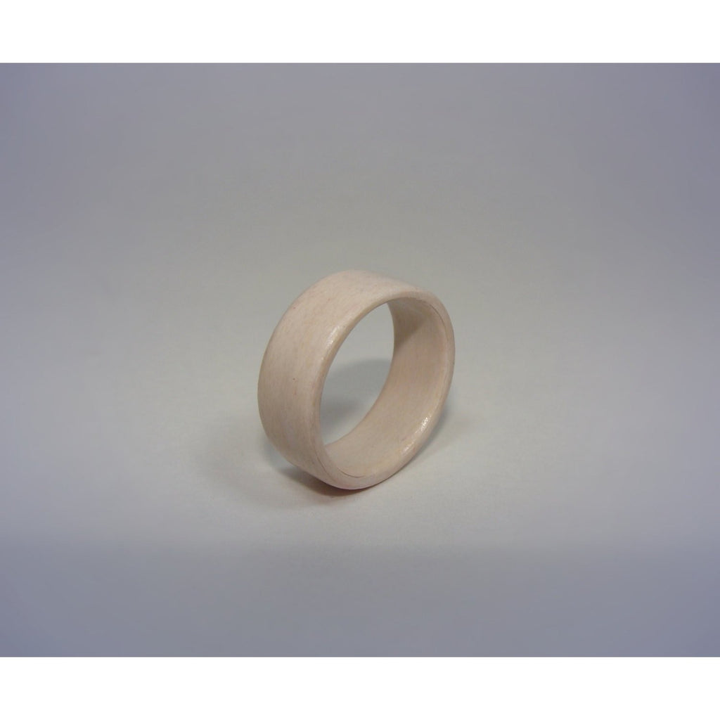 White Dyed Birch Bentwood Wood Ring - Art and Soule