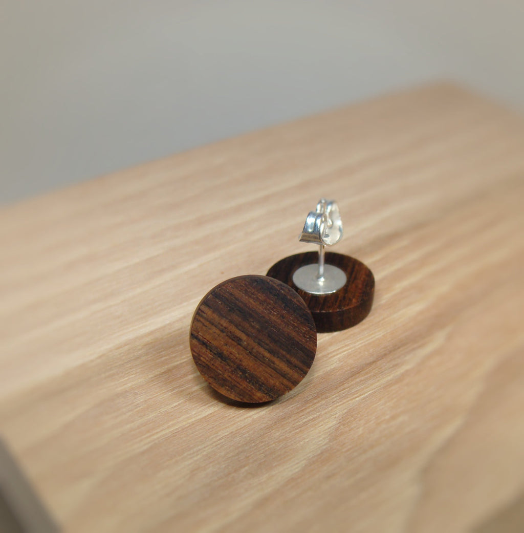 Bolivian Rosewood Earrings - Stud or Dangle - Multiple Sizes - Art and Soule
